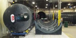 ZCL Above Ground Horizontal Fiberglass Storage Tank