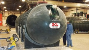 ZCL Above Ground Horizontal Fiberglass Storage Tank