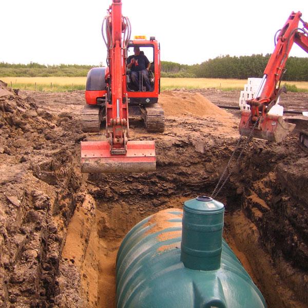 Polywest holding tank installation